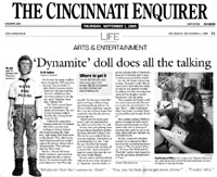 Cincinnati Enquirer's coverage of FunTalking's Napoleon Dynamite talking pen and doll