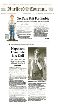 Hartford Courant's coverage of FunTalking's Napoleon Dynamite talking pen and doll