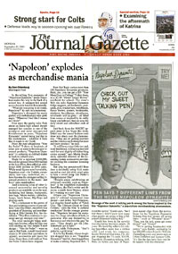 Journal Gazette coverage of FunTalking's Napoleon Dynamite talking pen and doll