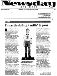 Newsday's coverage of FunTalking's Napoleon Dynamite talking pen and doll
